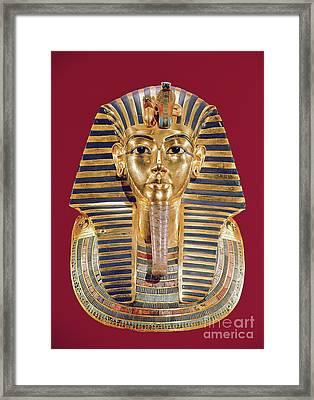 The Funerary Mask Of Tutankhamun Framed Print