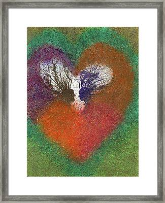 The Fusion Of Endless Love And Light #683 Framed Print by Rainbow Artist Orlando L aka Kevin Orlando Lau