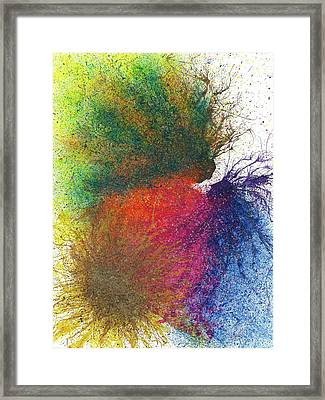 The Fusion Of Endless Love And Light #684 Framed Print by Rainbow Artist Orlando L aka Kevin Orlando Lau