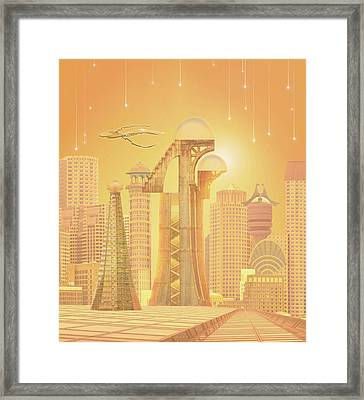 The Future Is Golden Framed Print