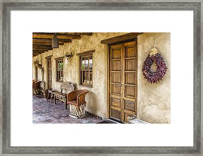 The Gage Hotel Framed Print by Kathy Adams Clark