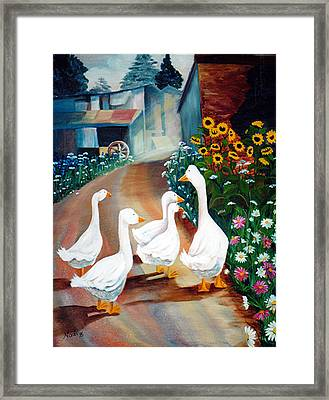 The Gaggle Framed Print
