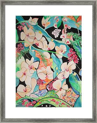 Framed Print featuring the painting The Gallery Of Orchids 1 by Esther Newman-Cohen