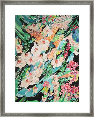 Framed Print featuring the painting The Gallery Of Orchids 2 by Esther Newman-Cohen