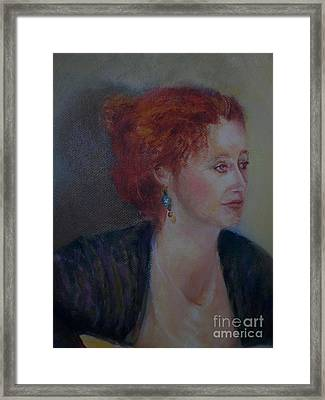 The Galway Shawl           Copyrighted Framed Print by Kathleen Hoekstra