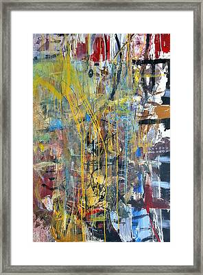 The Gamble Or Deconstructed Fish Framed Print by Robert Anderson