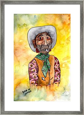 The Gambler Framed Print by Don Hand