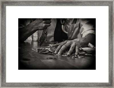 The Gambler Framed Print by Nichon Thorstrom