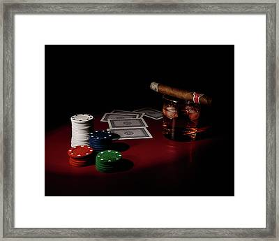 The Gambler Framed Print by Tom Mc Nemar