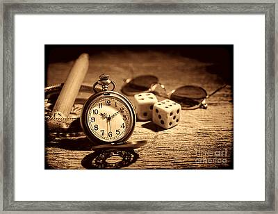 The Gambler's Watch Framed Print by American West Legend By Olivier Le Queinec