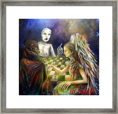 The Game Framed Print by Heather Calderon