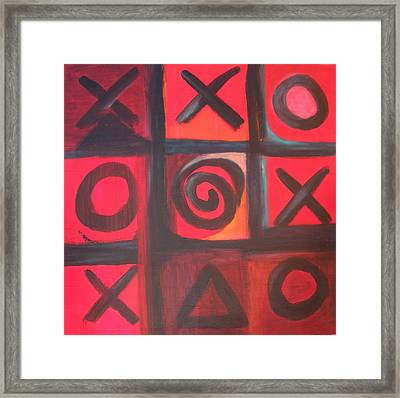 The Game Is Fixed Framed Print by Andrea Friedell