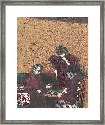 The Game Of Checkers, From The Series Landscapes And Interiors Framed Print
