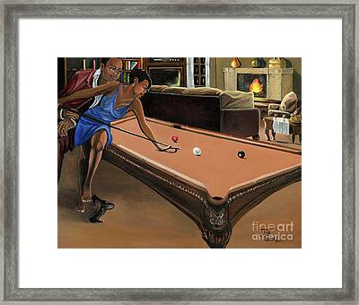 The Game Framed Print by Toni  Thorne