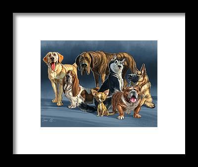 Great Dane Framed Prints