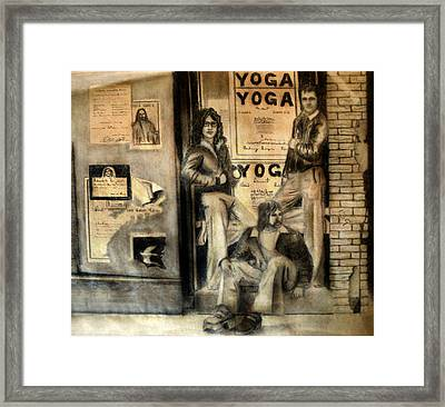 Framed Print featuring the drawing The Gang by Albert Puskaric