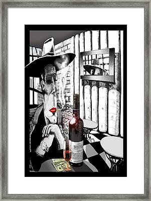 The Gangster Framed Print by Jose Roldan Rendon