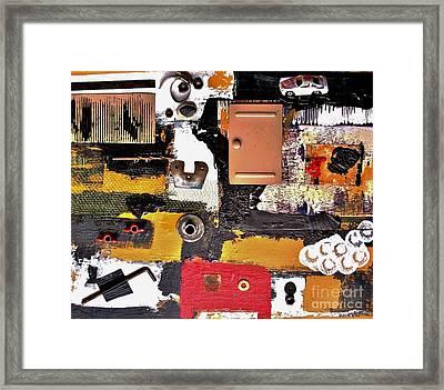 The Garage Collage Framed Print by Marsha Heiken