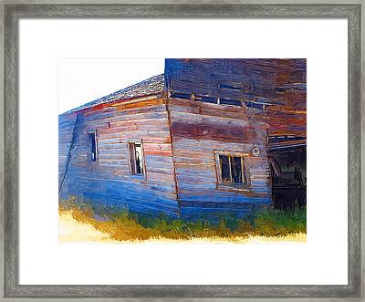 Framed Print featuring the photograph The Garage by Susan Kinney