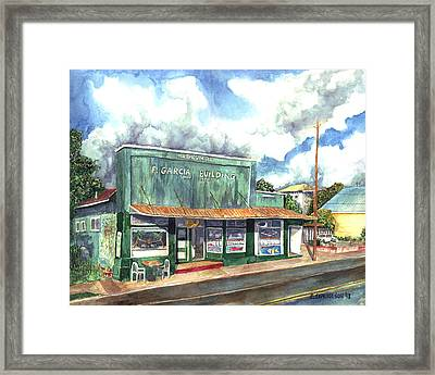 The Garcia Building Framed Print