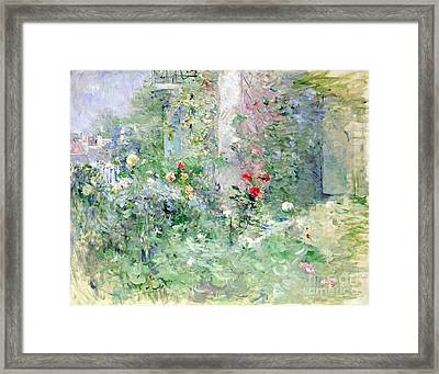 The Garden At Bougival Framed Print by Berthe Morisot