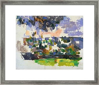 The Garden At Les Lauves Framed Print