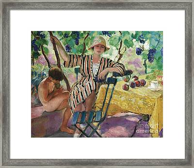 The Garden At Summer Framed Print by MotionAge Designs