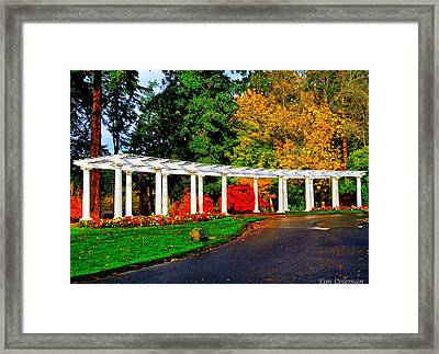 The Garden At Wapato Park Framed Print