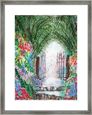The Garden Gate Framed Print by Ann Ingham