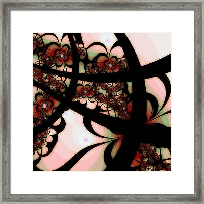 The Garden Gate Framed Print by Bonnie Bruno