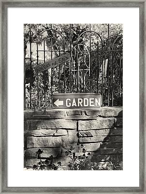 The Garden Gate Framed Print by Jim Furrer