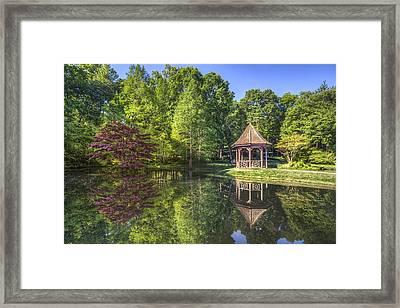 The Garden Gazebo Framed Print