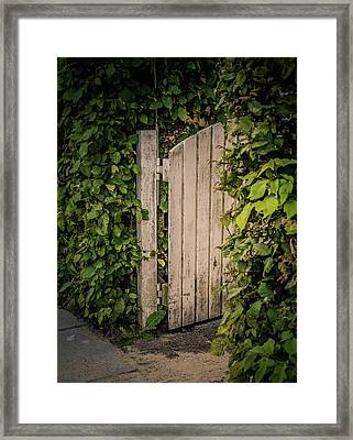 The Garden Is Open Framed Print