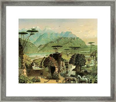 The Garden Of Eden Framed Print by Erastus Field