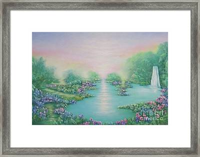 The Garden Of Eden Framed Print by Hannibal Mane