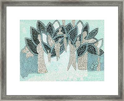 The Garden Of Eden Framed Print by Reb Frost