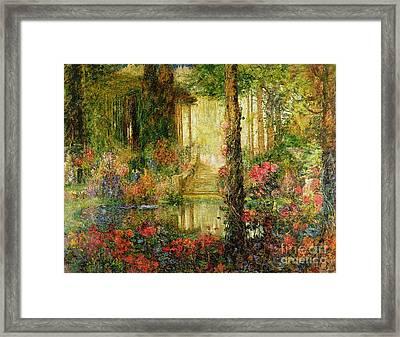 The Garden Of Enchantment Framed Print by Thomas Edwin Mostyn