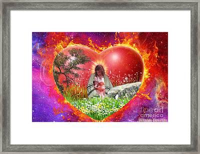 The Garden Of Gods Heart Framed Print