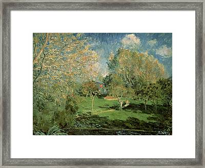 The Garden Of Hoschede Family Framed Print by Alfred Sisley