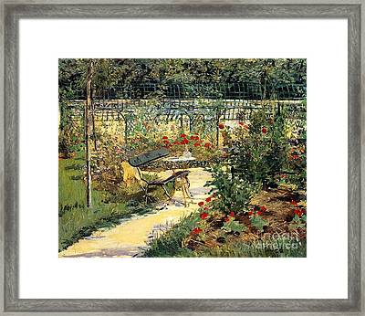 The Garden Of Manet Framed Print by Edouard Manet