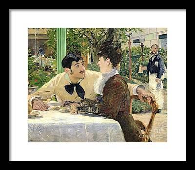 Outdoor Cafe Framed Prints