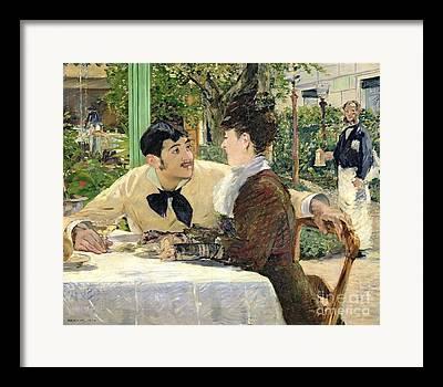 Outdoor Cafes Framed Prints
