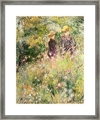 The Garden Of Roses Framed Print by Pierre Auguste Renoir