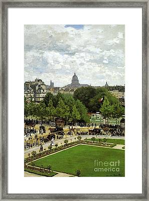 The Garden Of The Princess Framed Print by Monet