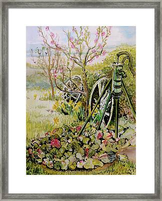The Garden Pump Framed Print by Joan Thewsey