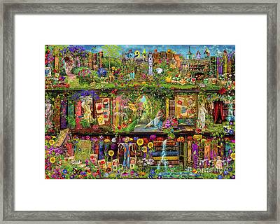 The Garden Shelf Framed Print by Aimee Stewart