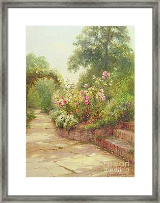 The Garden Steps   Framed Print by Ernest Walbourn