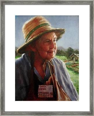 The Gardener Framed Print by Janet McGrath