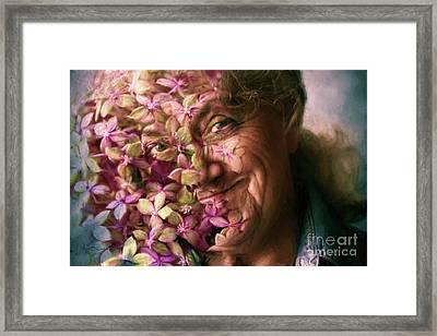 The Gardener Framed Print by Jean OKeeffe Macro Abundance Art
