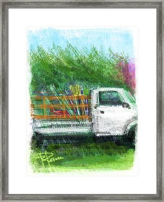 The Gardener's Truck Framed Print by Russell Pierce